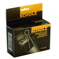 Биндеры  32мм черные 12шт/уп 4743 Scholz