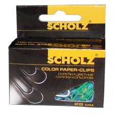 Скрепки 28мм 10шт прямые цвет в ассортименте 4755 Scholz