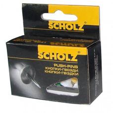 Кнопки-гвозди 30шт цвет в ассортименте 4841 Scholz