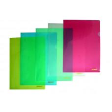 Файл-папка (уголок) A4 PP 180мкм, цвета в ассортименте в том числе БЕСЦВЕТНАЯ 01310, Scholz