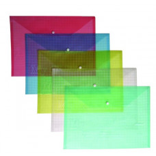Папка прозрачная А4 PP с кнопкой 4-203, 4OFFICE