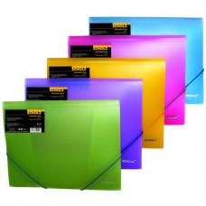 Папка на резинке А4 РР 550мкм прозрачная цвета в ассортимнте 10507, Scholz