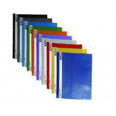 Скоросшиватель пластиковый с прозрачным верхом А4, РР цв. в ас. 4-240, 4OFFICE
