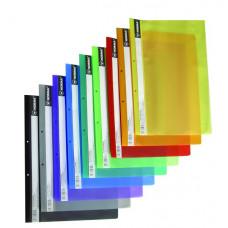 Скоросшиватель пластиковый с прозрачным верхом B5, РР цв. в ассортименте 5264,NORMA
