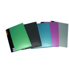 Папка А4 2см 2 прижима PP 700мкм цвета в ассортименте 05501, Scholz