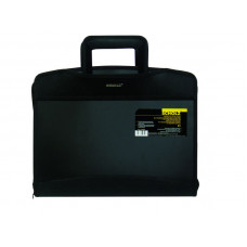 Папка-портфель с выдвижными ручками, 6+2отд. 12отд. для CD,  А4, PP, чёрн., 5080, Scholz