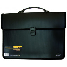 Портфель B4 2отд. черный 10503, Scholz