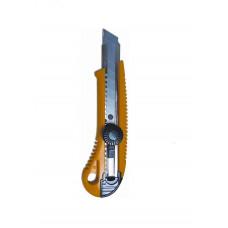 Нож канцелярский 18мм фиксатор металлическая направляющая 4513, NORMA