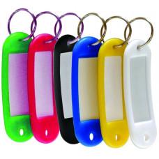 Брелок-бирка пластиковый (идентификатор) для ключей набор 6шт цв. в асс. 4401 Scholz