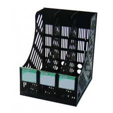 Лоток для документов верт 3 отд. серый 4-402 4Office
