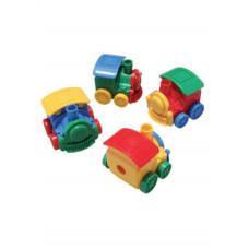 """Точилка-игрушка с конт.+ 3S Techno,""""Минипаровозик"""",46*46*40мм,4823,CLASS"""
