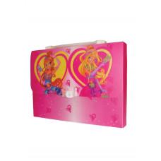 """Портфель-коробка с цветным рисунком  А4 """"Fairy Club 2"""", 550 мкн, 5601, CLASS"""