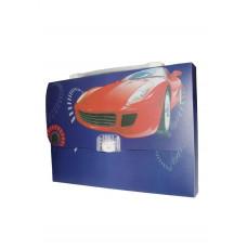 """Портфель-коробка с цветным рисунком  А4 """"Авто"""" 550 мкн, 5604, CLASS"""