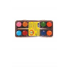 Краски акварельные 12 цветов.x 3.5мл., с кисточкой пластиковая коробка с завесом 7051,CLASS