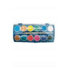 Краски акварельные 12цветов с кисточкой пластиковая коробка КР82, УМКА