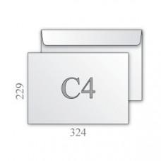 Конверт белый С4 229х324 отрывная лента