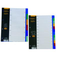 Разделители цветовые А4 12шт PP 5004 Scholz
