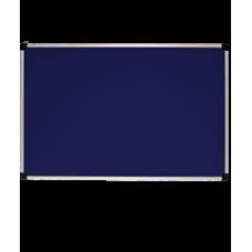 Доска для объявлений текстильная. Алюминиевая рама S-line. Синяя. (100х150 см) 141015