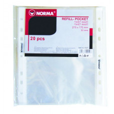 Пакет-файл A4 PP 40мкн гладкий прозр уп 100шт 5705 NORMA