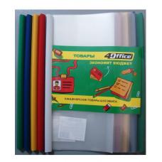 Папка-файл с боковой планкой-зажимом, 10 мм (65 листов), А4, РР, 4-250, 4Office