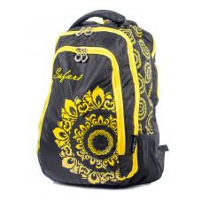 Ранец-рюкзак 3 отд 43*29*17см черн 9456 SAF