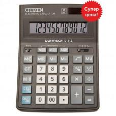 Калькулятор Citizen Correct D-312 бухгалтерский 12р