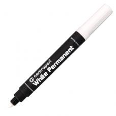 Маркер перманентный 2.5 мм белый White Permanent 8586  Centropen