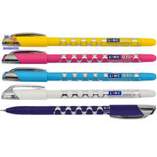 """Ручка шар/мас """"Gliss"""" черная LINC ( корпус цветной)"""
