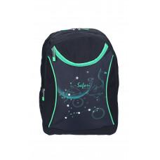 Ранец-рюкзак 2 отделения 43*30*18см черно-зеленый 9791 SAF