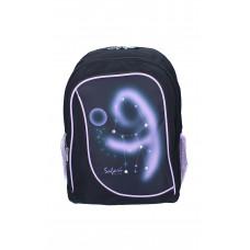 Ранец-рюкзак 2 отделения 43*30*18см черно-фиолетовый 9792 SAF