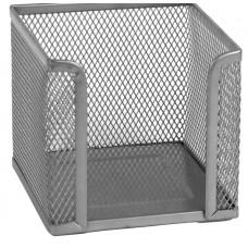 2112-03-A Куб для бумаги 100х100x100мм, металл, сереброAXENT
