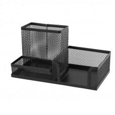 2116-01-АПодставка-органайзер 203x105x100мм металл, чернаяAXENT