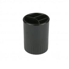 D4009-01Стакан-подставка на 4 отделения, чернаяDELTA/AXENT