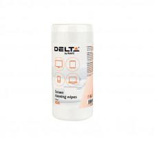 D5302  Салфетки для экранов влажные,100шт DELTA/AXENT