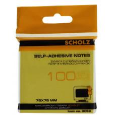 Бумага клейкая 76х76мм 100л цв в ас 8068 Scholz