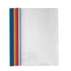 папка-файл с бок. планкой-зажимом, 6 мм (35 листов), А4, РР, 4-249 , 4Office