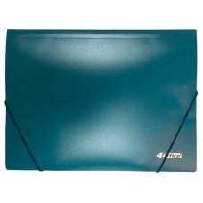 папка на резинке, А4, 500 мкн.,PP, зелен., 4-244-04, 4OFFICE