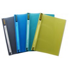 Папка-скоросшиватель А4 2см прозрачный верх PP 600мкм, пастельных цветов 5236, Scholz