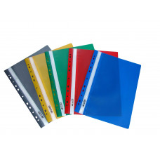 Скоросшиватель пластиковый с прозрачным верхом А4 РР цвет в ассортименте 4-270 4OFFICE