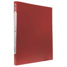 папка-скоросш.+карман, А4 500мкн, красная,PP, 4-213-01, 4OFFICE