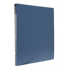 папка-скоросш.+карман, А4 500мкн, зел(голубая).,PP, 4-213-06, 4OFFICE