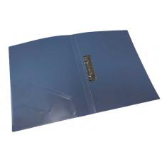 папка з прижимом+карман, А4,  500 мкн, синяя., PP, 4-221-06, 4OFFICE