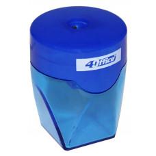 точилка с конт., кругло-прямоуг.,синяя, 4-369-06, 4OFFICE