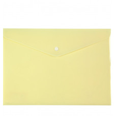 Папка на кнопке, А4, Pastelini, желтая,AXENT