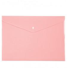 Папка на кнопке, А4, Pastelini, розовая,AXENT