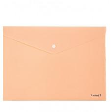 Папка на кнопке, А4, Pastelini, персиковая, AXENT