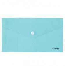 Папка-конверт на кнопке,евро,250*130мм, Pastelini, неомята,AXENT