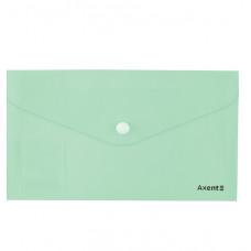 Папка-конверт на кнопке,евро,250*130мм, Pastelini, мята,AXENT