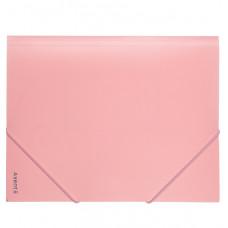 1504-10 Папка на резинках, А4, Pastelini, розовая AXENT