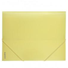1504-26 Папка на резинах, А4, Pastelini, желтая AXENT